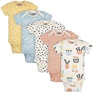 Grow by Gerber baby-girls Organic 5-pack Short-sleeve Onesies Bodysuits