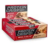 BSN Protein Crisp Bar by Syntha-6, Low Sugar Whey Protein Bar, 20g of Protein, Salted Toffee Pretzel, 12 Count (Packaging may vary)