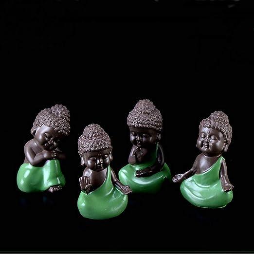 Amazon.com: TATEELY - Figura decorativa de mini monjes ...