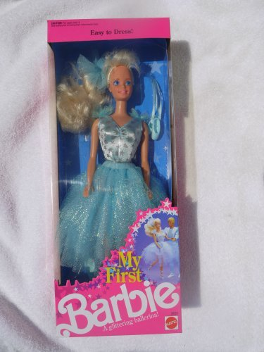 Barbie My First in Pale Blue Easy-to-Dress Glittering Ballerina Costume (1991)