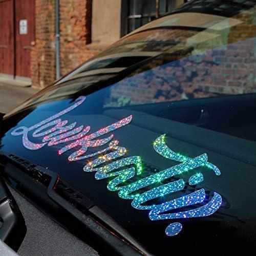 Auto Aufkleber Lowkrativ Frontscheibe Oilslick Aufkleber Hologramm Glitzer Flakes Sticker Low Deep Bagged Stance Static Dapper Illest Stillgelegt Auto