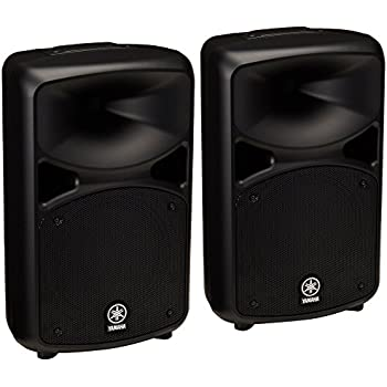 yamaha stagepas 600i portable pa system with speaker stands and xlr cables musical. Black Bedroom Furniture Sets. Home Design Ideas