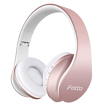 1b5a7b8151f Ifecco Bluetooth Headphones, 4 in 1 Upgrade Bluetooth Foldable Over-Ear  Headsets with Micro