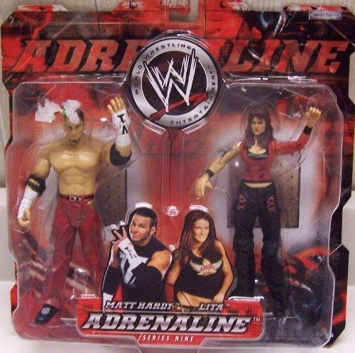 """WWE Adrenaline Series 9 """"Matt Hardy & Lita"""" Action Figure 2-Pack by Jakks"""