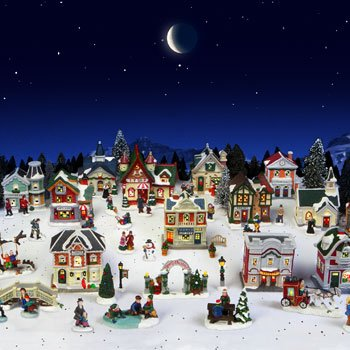 cobblestone corners 2013 christmas village 61 piece set including 32x40 glittered