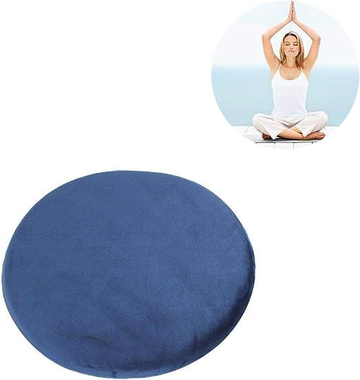la Salle de Yoga la Maison Leking Coussin de m/éditation Rond en Coton /à m/émoire de Forme pour Le Bureau