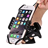 Bike & Motorcycle Cell Phone Mount - Patekfly Bike Mount For iPhone 7 (5, 6s 6Plus, 7Plus), Samsung Galaxy or any Smartphone & GPS - Universal Mountain & Road Bicycle Handlebar Cradle Holder.
