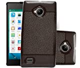 ECellStreet Soft Back Case Cover With Camera protection For Micromax Canvas Amaze 4G Q491 - Brown