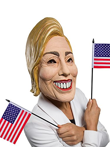 Rubie's Costume Co Women's Famous Faces Political Mask Hillary, Multi, One Size -