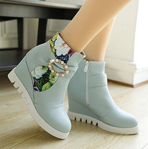 YE Mujer clásicas YE botas botas Azul Mujer clásicas 6zwFqZxwT