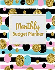 Monthly Budget Planner: Weekly Expense Tracker Bill Organizer Notebook Business Money Personal Finance Journal Planning Workbook size 8.5x11 Inches Glitter Dots Style