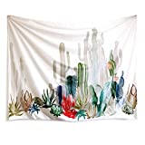 "Cactus Landscape Wall Tapestry Fabric Wallpaper Home Decor,60""x 80"",Twin Size"