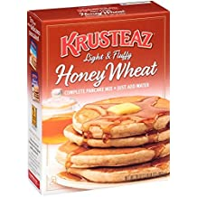 Krusteaz Light & Fluffy Honey Wheat Complete Pancake Mix, 30-Ounce Boxes (Pack of 4) by Krusteaz