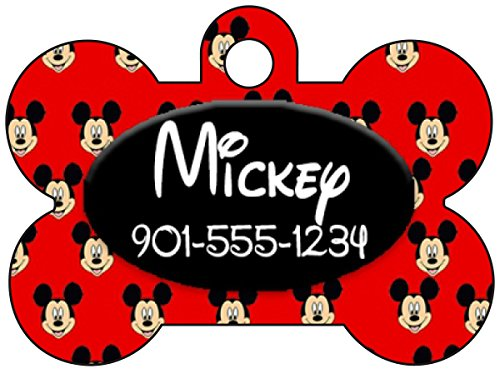 Disney Mickey Mouse Pet Id Tag for Dogs & Cats Personalized w/ Name & Number