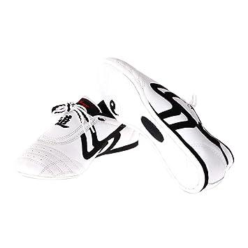 37ccc331e127 Chaussures Taekwondo Sports Chaussures Arts Martiaux Antidérapant Léger  Respirantes Comfortable pour Adultes - Noir et Blanc  Amazon.fr  Sports et  Loisirs