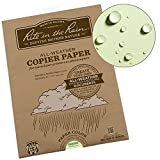 Rite in the Rain Weatherproof Laser Printer Paper, 8 1/2'' x 11'', 20# Green Colored Printer Paper, 50 Sheet Pack (No. 9511-50)