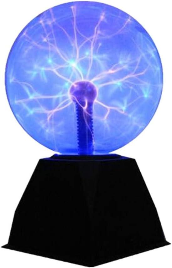 Lebbeen Glass Plasma Ball Sphere Lightning Light Lamp Party Magical Ball electrostatic Flashing Ball(6.0 Inches)