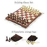 "Magnetic Folding Chess Set,11""x 9.64"" Portable"