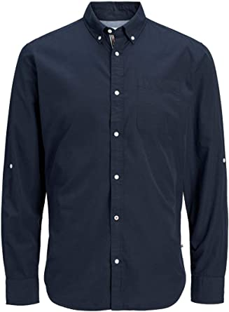 Jack & Jones Camisa Manga Larga JJELUKAS Poplin Shirt L/S para Hombre Hombre: Amazon.es: Ropa y accesorios