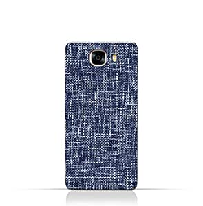 AMC Design Samsung Galaxy C5 Pro TPU Silicone Case with Brushed Chambray Pattern