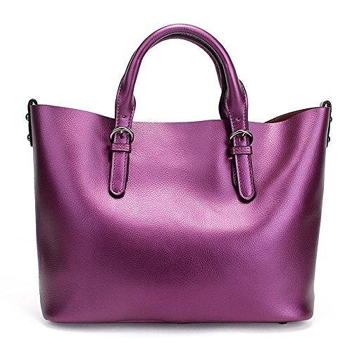 Capacité à Bag Vintage Casual Bandoulière Grande Main Sac Mode Lady à Messenger Purple Sac PWqXUX