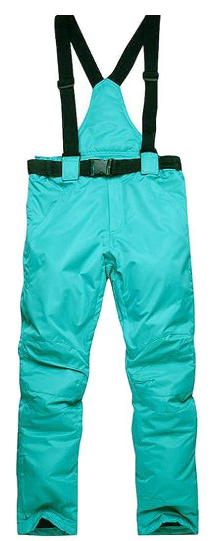 Cromoncent Women's Winter Windproof Waterproof Sports Snow Bi Ski Pants