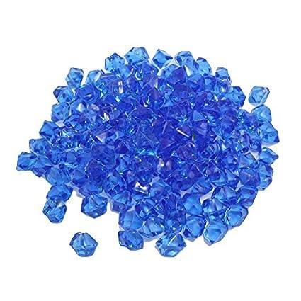 Sonline 150 piezas de plastico azul irregular de piedra cristalina pez tanque Ornamento