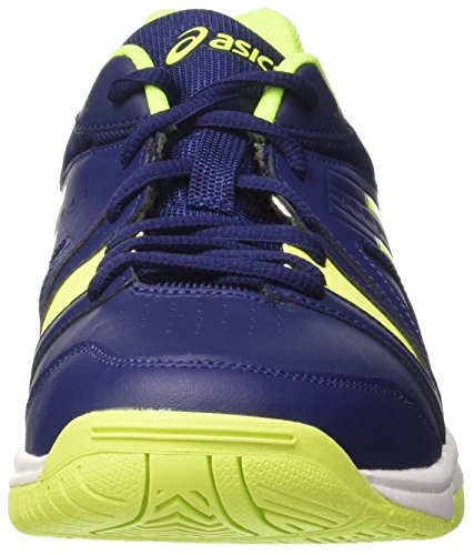 Asics Herren Gel-Gamepoint Tennisschuhe Blau (Indigo Blue/safety Yellow/white)