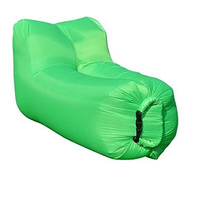 ZBSport Hamac Gonflable/Transat Gonflable Avec Un Sac Portatif, Chaise D'air Pour Le Camping, Pêche, Voyageant, Piscine Et parties De Plage, Portatifs Et Légers