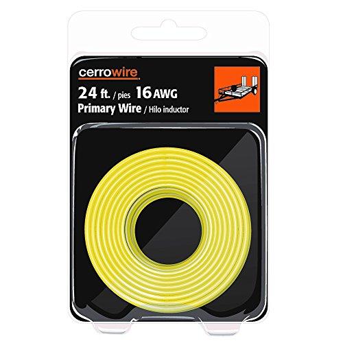 - CERRO 207-1207R24 24-Feet 16 Gauge Primary Yellow Wire Foot