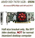 51pAuX4XtFL. SL160  - AMD radeon HD 7470 1GB 1024MB low profile video card with display port and DVI for SFF / slim desktop computer