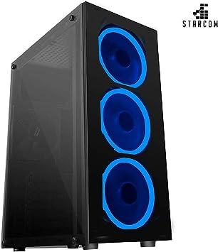 Nova Starcom Caja ATX Gaming Cristal Templado 3fan USB 3.0 Alimentador 600w: Amazon.es: Electrónica
