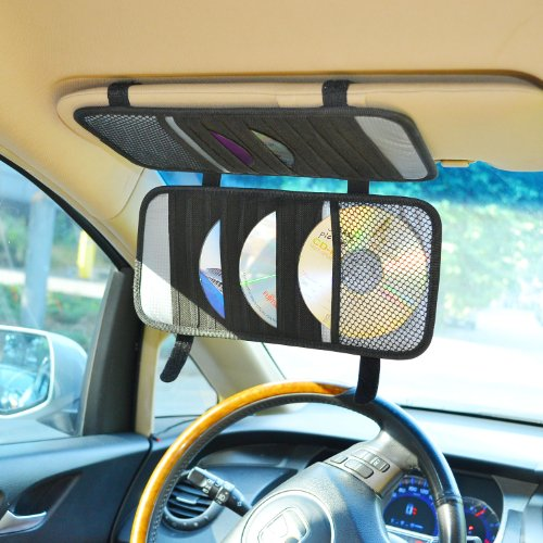Case Logic Car - TFY Car Visor Organizer. Triple-layer, 30 CD/DVD Disk Storage Holder - Black