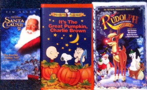 Video Holiday 3 Pack Disney's Santa Claus 2 - It's The Great Pumpkin, Charlie Brown - Rudolph the red-nosed Reindeer