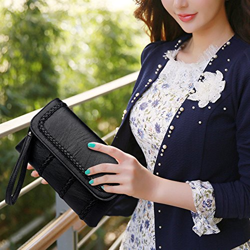 top Envelope Handbag Clutch New Fashion Bag Messenger Women's Bronze Soft Shoulder Iq1xd