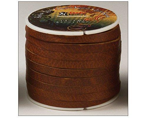 "Tandy Leather Kodiak Lace 1/4"" x 36 ft (6 mm x 10.9 m) Tan 5076-03"