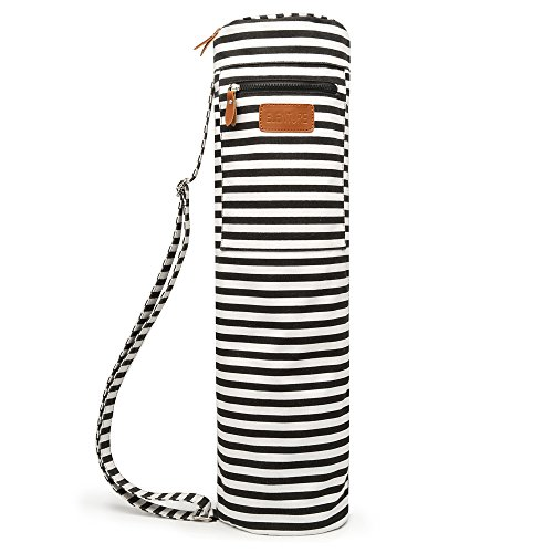 Elenture Full-Zip Exercise Yoga Mat Carry Bag with Multi-Functional Storage Pockets (Stripe)