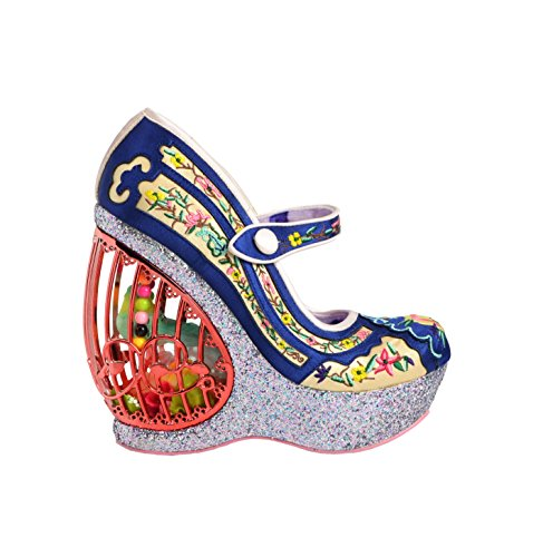 Irregular Choice Women's Ava's Aviary Floral Embroidered Wedge Platform Shoes (EU 36) ()