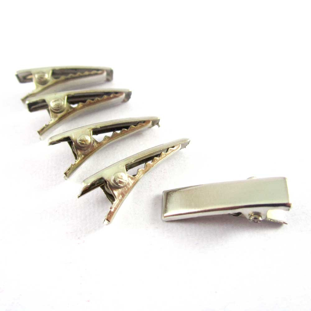 100 Pieces Spring badge Clip Nickel Plated