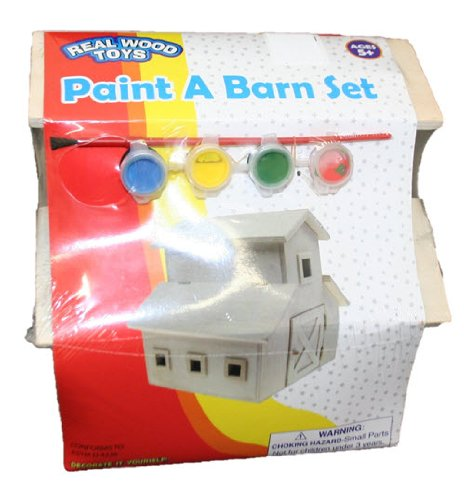 Real Wood Toys Paint a Barn Set - Ages 5+