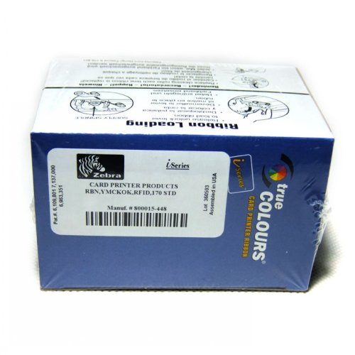 Color Zebra P430i (800015-448 YMCKOK Color Ribbon For Zebra P420I P520I P430I Printer 170 Prints)