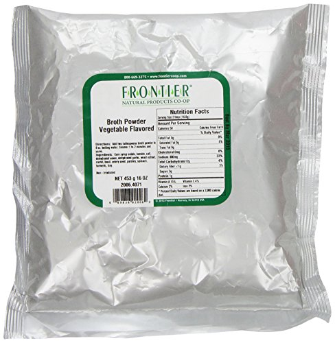 Frontier Broth Powder, Vegetable Flavored, 16 Ounce Bag