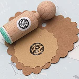 39 save the date 39 round rubber stamp very mini for Rubber stamps arts and crafts