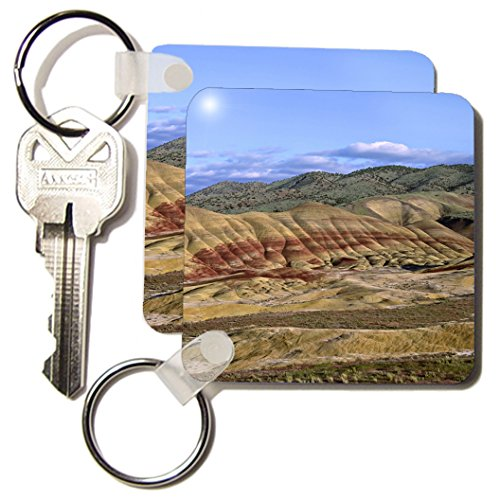 Danita Delimont - Oregon - Oregon, John Day Fossil Bed, Painted Hills - US38 CSL0009 - Charles Sleicher - Key Chains - set of 2 Key Chains (kc_93736_1)