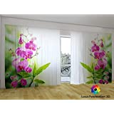 3d gardinen vorh nge bedruckt vorhang mit motiv blumen 874 fotovorhang fotogardine. Black Bedroom Furniture Sets. Home Design Ideas