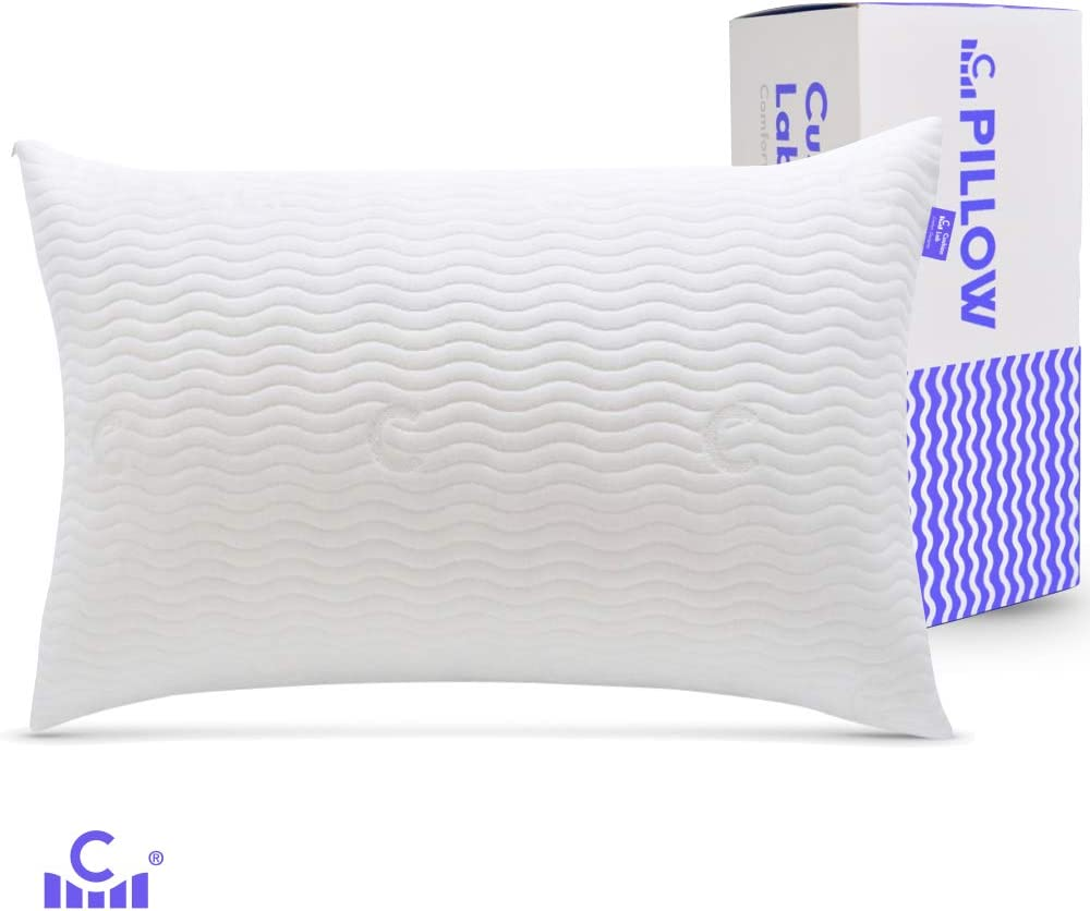 Cushion Lab Adjustable Shredded Memory Foam Pillow for Back, Stomach, Side Sleeper - Bamboo Pillow for Sleeping & Neck Pain Relief, Washable Hypoallergenic Cover, CertiPUR US - 20 X 30 Size, Queen