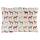 CafePress - Picolorful Horse Pattern - Standard Size Pillow Case, 20''x30'' Pillow Cover, Unique Pillow Slip