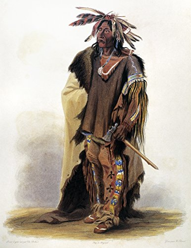 Bodmer Sioux Chief Nwahk-T-Ge-Li Or Big Soldier A Yankton Sioux Native American Chief Aquatint Engraving C1844 After A Painting 1833 By Karl Bodmer Poster Print by (18 x 24)
