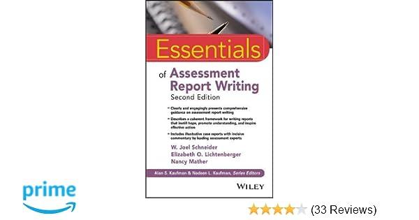 Amazon essentials of assessment report writing essentials of amazon essentials of assessment report writing essentials of psychological assessment 9781119218685 w joel schneider elizabeth o lichtenberger fandeluxe Images