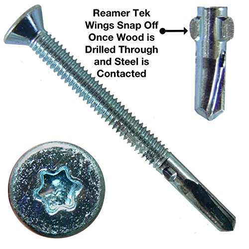 12X2 1 2  Reamer Tek Torx Star Head Self Drilling Wood To Metal Screws   5 Pound   275 Tek Screws    Tek Screws For Flatbeds  Trailers  Or Where Fastening Wood To Steel   T 25 Torx Screw Head